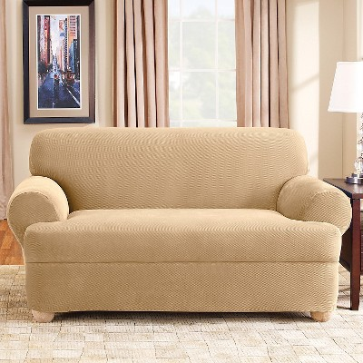 Stretch Pique 2pc T Sofa Slipcover   Sure Fit : Target