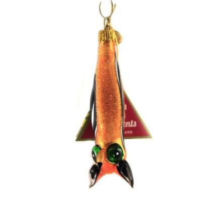 "Morawski 3.75"" Upside Down Hanging Bat Ornament Halloween Fruit  -  Tree Ornaments"