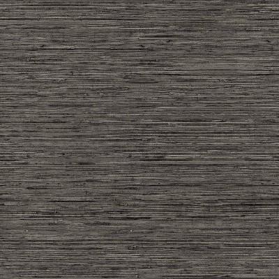 RoomMates Grasscloth Gray Peel & Stick Wallpaper
