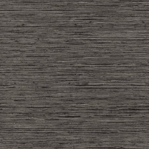 RoomMates Grasscloth Gray Peel & Stick Wallpaper - image 1 of 4