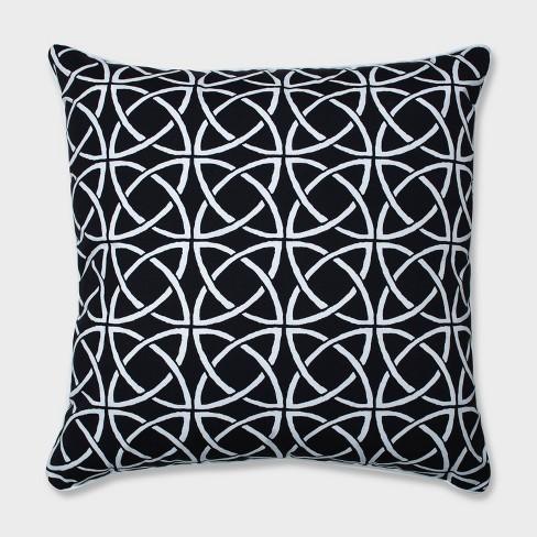 "25"" Catamaran Tile Floor Pillow Black - Pillow Perfect - image 1 of 4"