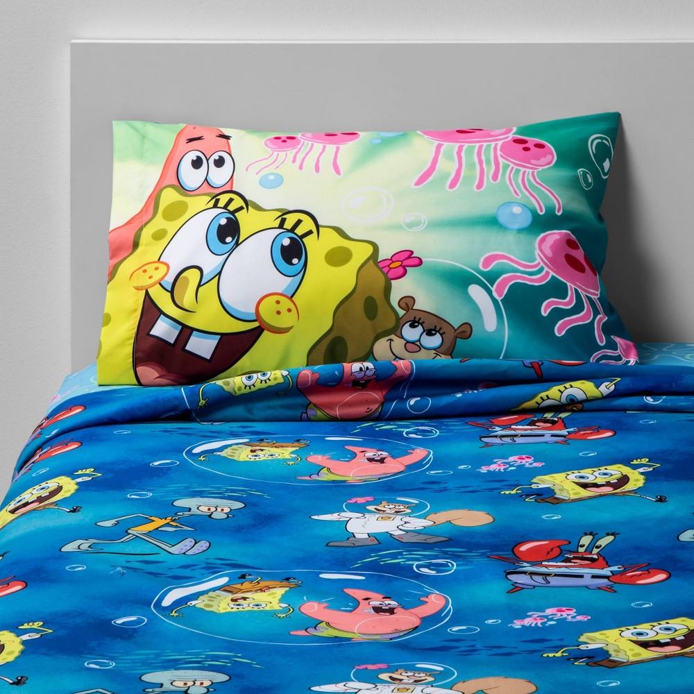 Image of Twin SpongeBob SquarePants Sea Adventures Sheet Set