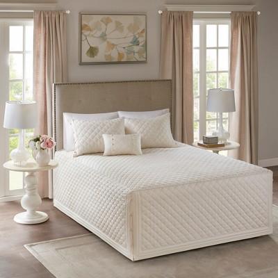 Ivory Miller Tailored Bedspread Set (King/California King)4pc