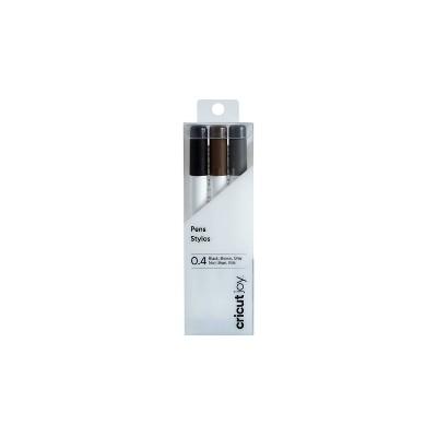 Cricut Joy 3pk 0.4 Fine Point Pens Black/Brown/Gray