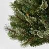 7.5ft Pre-lit Artificial Christmas Tree Pencil Virginia Pine Multicolored Lights - Wondershop™ - image 3 of 4