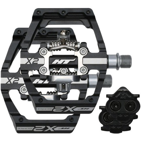 HT X2 DH Race Pedals - Dual Sided Clipless with Platform Aluminum 9/16 Black - image 1 of 3