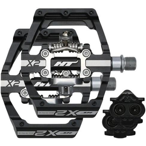 Black 9//16 HT X2 Clip In Pedals