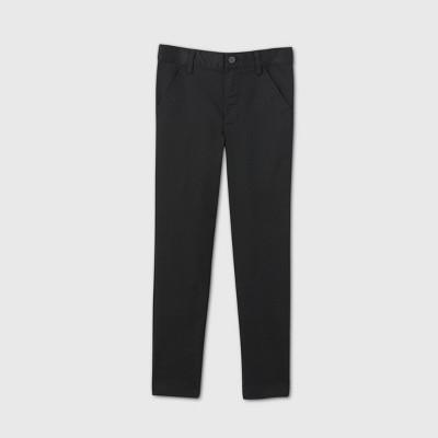 Boys' Flat Front Stretch Uniform Skinny Fit Pants - Cat & Jack™ Black