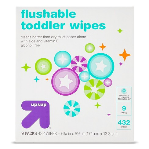 Toddler and Family Flushable Wipes - 432ct - Up&Up™ - image 1 of 2