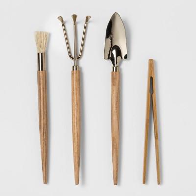 4pc Stainless Steel Terrarium Tool Set - Smith & Hawken™