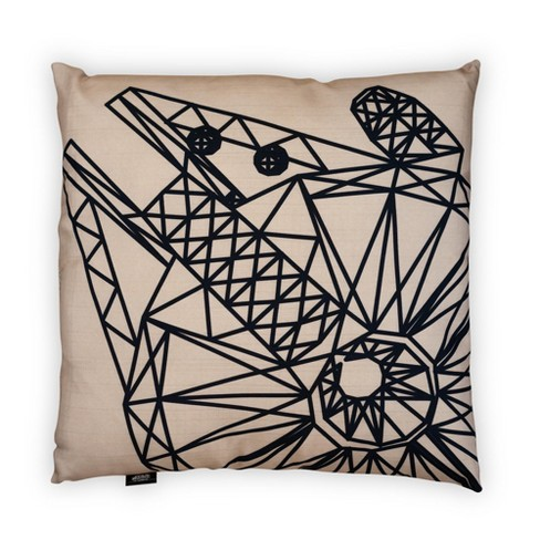 Seven20 Star Wars Large Throw Pillow | Millennium Falcon Pattern | 25 x 25 Inches - image 1 of 4