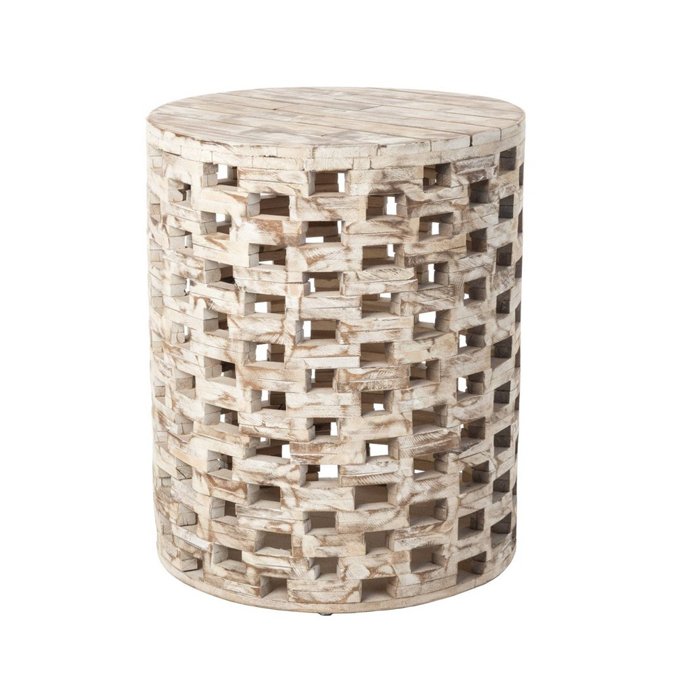 Image of Parker Round Outdoor Patio Garden Stool - Balkene Home