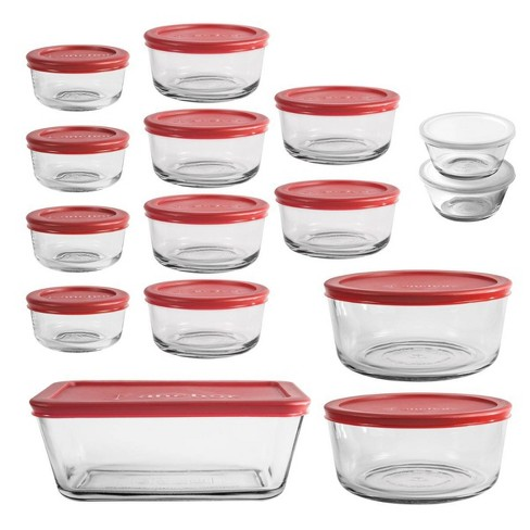 Anchor Hocking 30pc Glass Food Storage Set with Cherry Lids - image 1 of 1