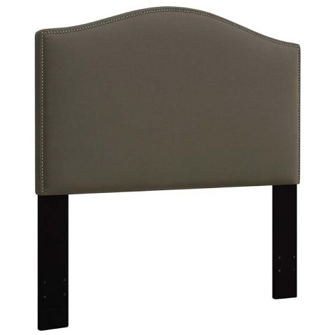 Fabric Upholstered King California King Panel Headboard in Brown-Pemberly Row - image 1 of 4