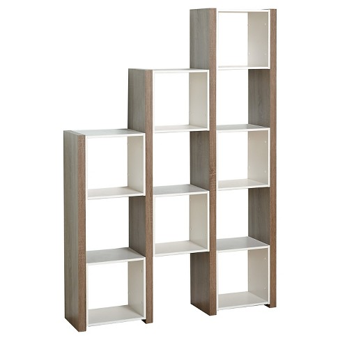 709 Urban Room Divider Bookcase White Sonoma Oak