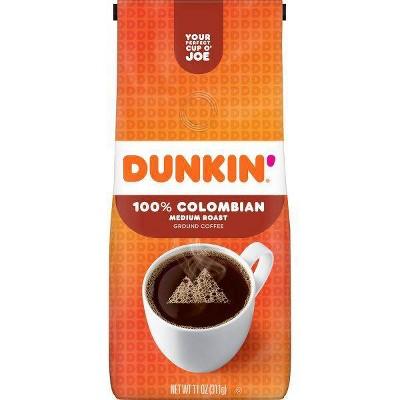 Dunkin' 100% Colombian Ground Coffee Medium Roast - 11oz