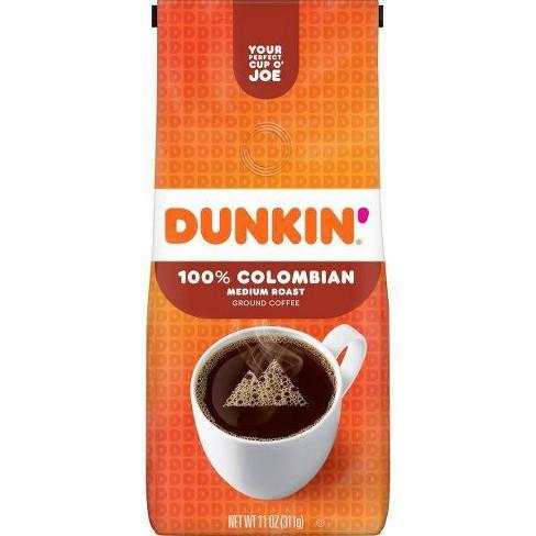 Dunkin' 100% Colombian Ground Coffee Medium Roast - 11oz - image 1 of 4