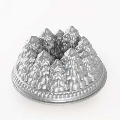 Nordic Ware Pine Forest Bundt Pan, Metallic