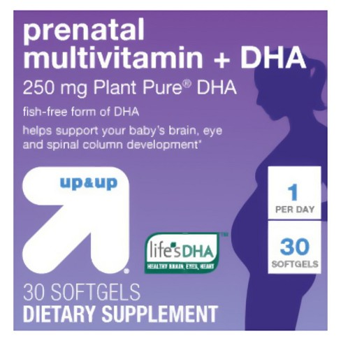 Prenatal Multivitamin & DHA Dietary Supplement Softgels - 30ct - Up&Up™ - image 1 of 4