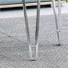 Arva Modern Iron Coffee Table Silver - Christopher Knight Home - image 4 of 4
