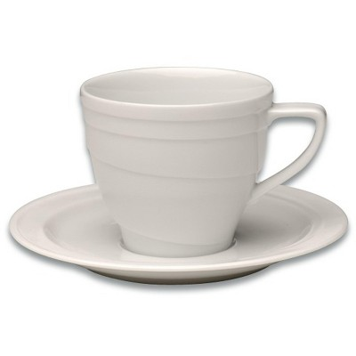 BergHOFF Eclipse 6oz Porcelain Coffee Cup & Saucer, Individual