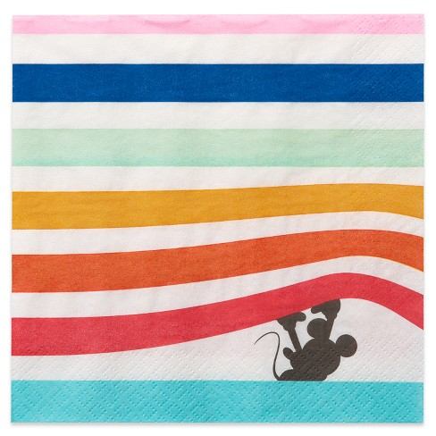 """Disney Mickey Mouse 6.5"""" 20ct Snack Paper Napkin Multicolor - image 1 of 3"""