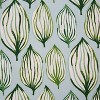 Set of 2 Tropical Leaf Verte Reversible Chair Pad - Pillow Perfect - image 2 of 3