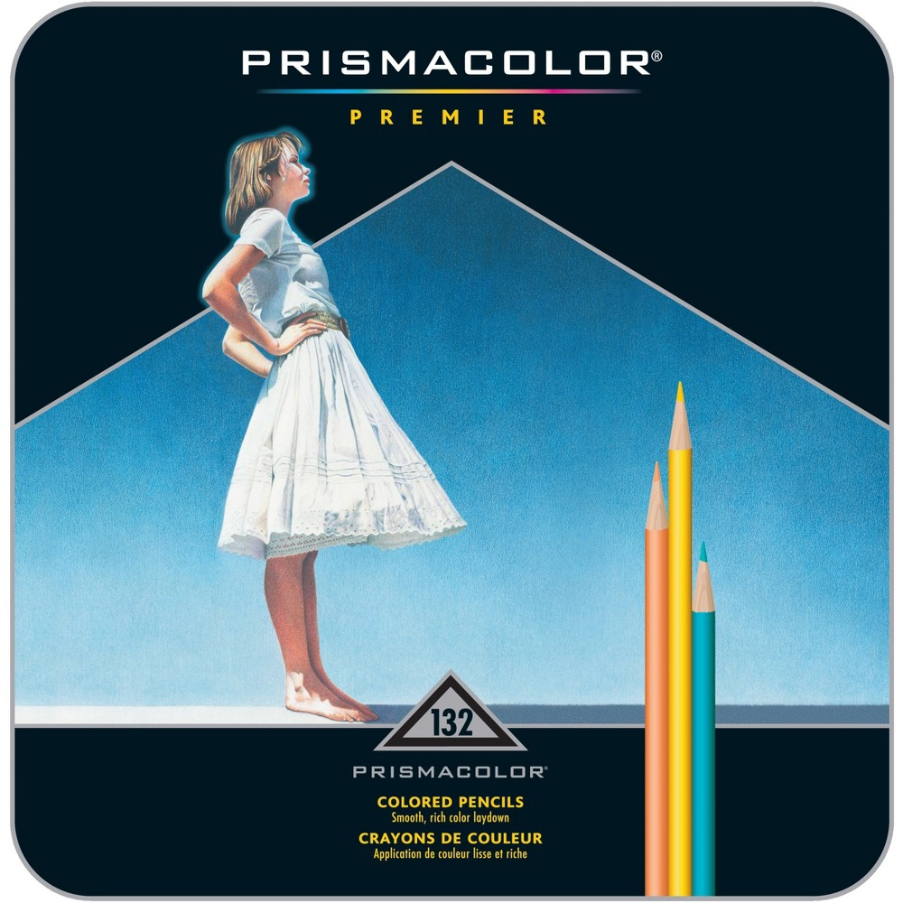 Prismacolor Drawing & Sketching Pencils, 0.7 mm, 132 Assorted Colors/Set, Yellow/Red/Green/Blue