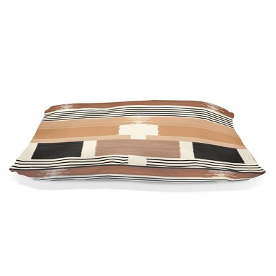 PetShop by Fringe Studio Textile Lines Pillow with Poly Fill Dog Bed - L