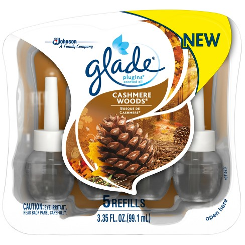 Glade Cashmere Woods PlugIns Refill - 5ct - image 1 of 4