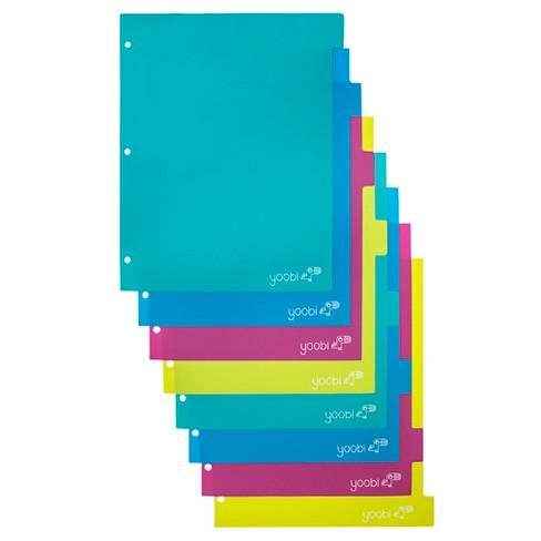 yoobi index plastic dividers aqua multicolor 8 pack target