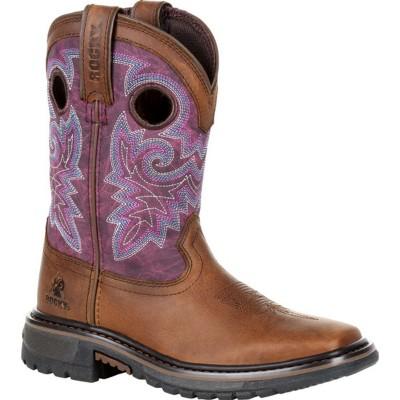 Rocky Original Ride FLX Girls Brown Western Boot