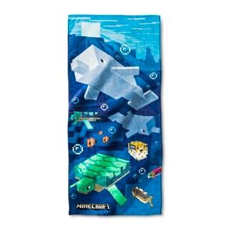 Minecraft Beach Towel Blue - Minecraft