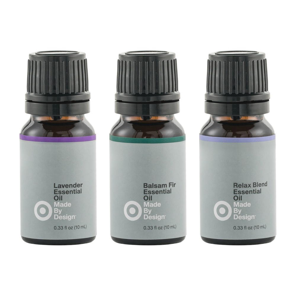 Image of 10ml 3pk Essential Oil Relax Set Lavender/Balsam Fir/ Relax Blend - Made By Design