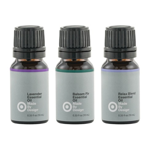 .33 fl oz 3pk 100% Pure Essential Oil Relax Set Lavender/Balsam Fir/ Relax Blend - Made By Design™ - image 1 of 2