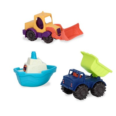 B. toys 3 Toy Vehicles - Loaders & Floaters