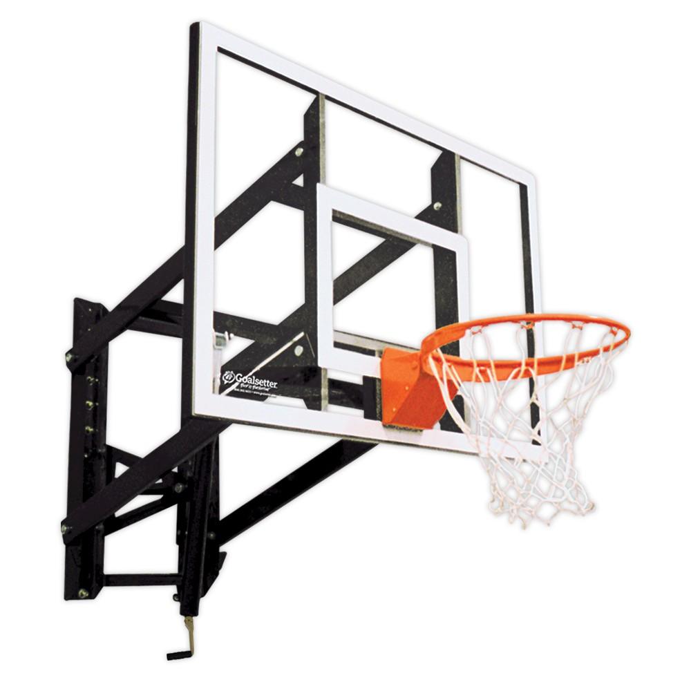 Goalsetter GS54 54 Wall-Mounted Acrylic Basketball Hoop with HD Breakaway Rim, Multi-Colored