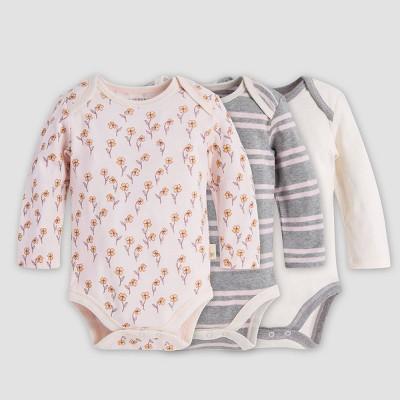 Burt's Bees Baby® Baby Girls' Organic Cotton Wildflower Bodysuit - Purple 6-9 M