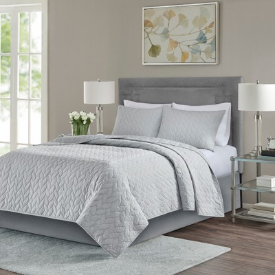Gray Wiley Coverlet Set (Full/Queen)