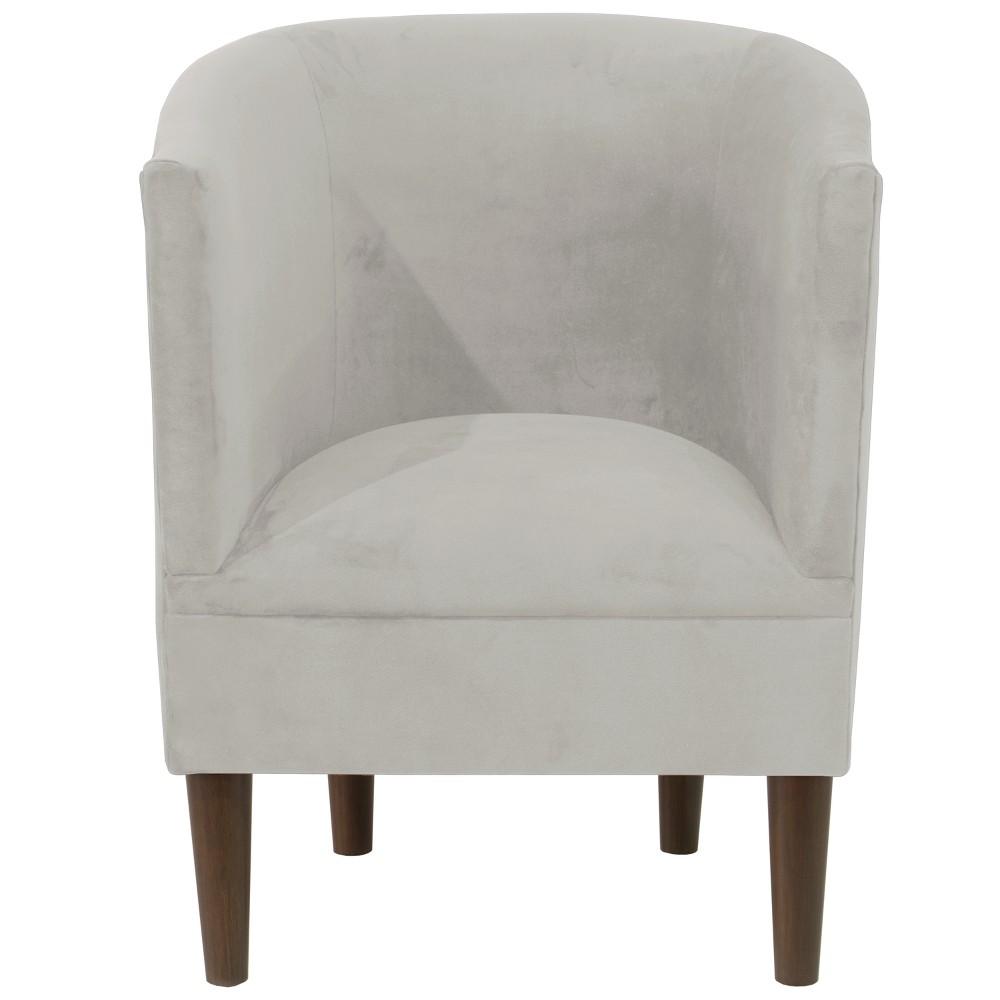 Tub Chair Velvet Light Gray - Skyline Furniture