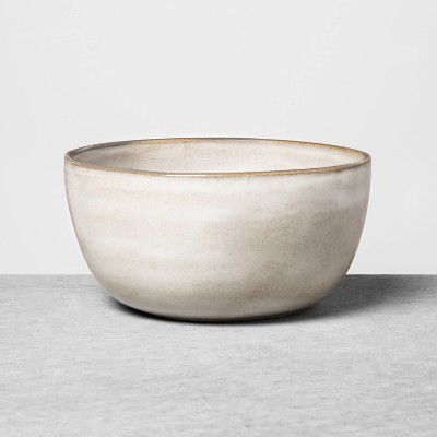 Stoneware Reactive Glaze Cereal Bowl Gray - Hearth & Hand™ with Magnolia