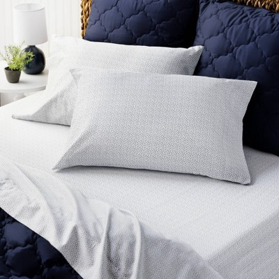 Printed Cotton Sheet Set - Martha Stewart