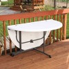 8pk Round Commercial Fold In Half Table White - Lifetime - image 4 of 4