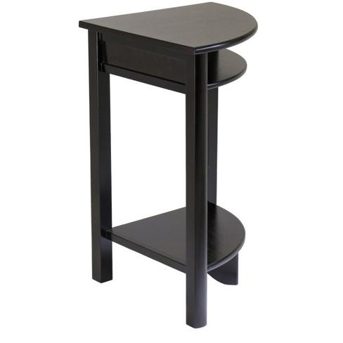 Liso Corner Table Cube Storage And Shelf Dark Espresso Winsome Target
