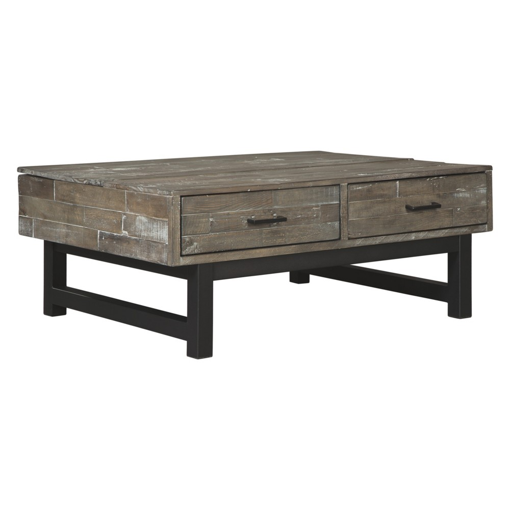 Mondoro Lift Top Cocktail Table Taupe - Signature Design by Ashley