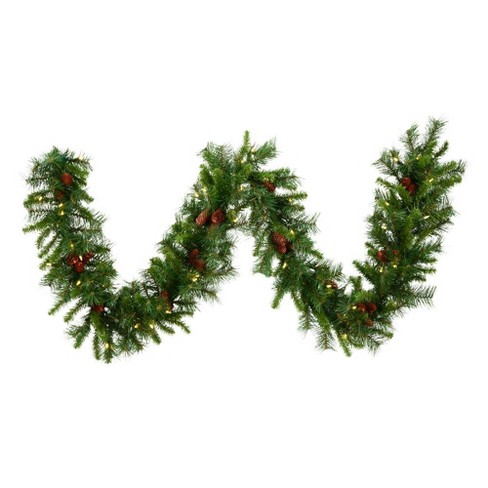 Vickerman 9' Cheyenne Artificial Christmas Garland with 50 Warm White LED Lights - image 1 of 1