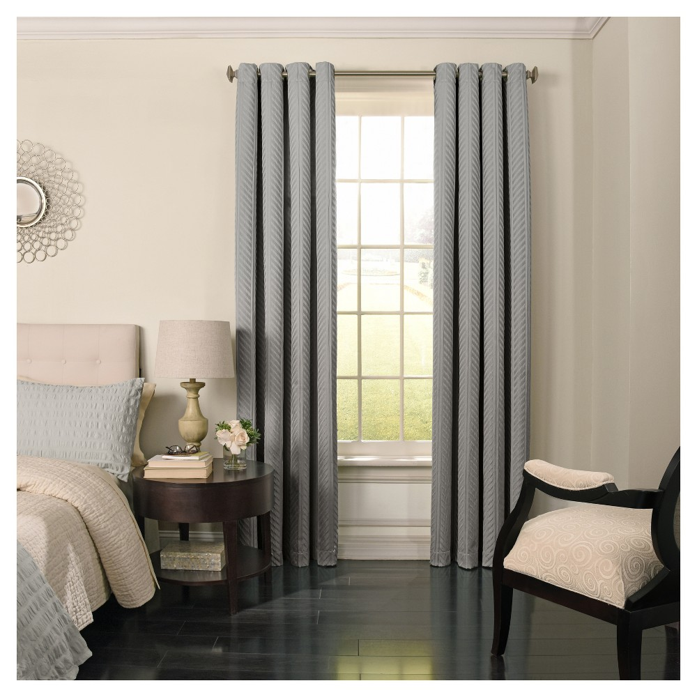 Malbrouk Blackout Curtain Panel Gray (52