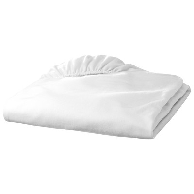 TL Care Jersey Knit Fitted Crib Sheet - White