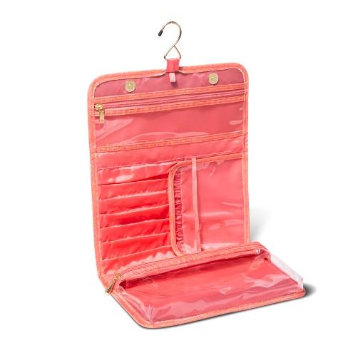 8c8707e90a Sonia Kashuk™ Hanging Cubic Gold Makeup Bag - Coral   Target