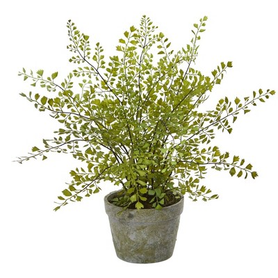 """13"""" x 16"""" Artificial Maiden Hair Plant in Decorative Planter - Nearly Natural"""